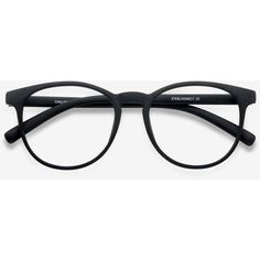 ddbe3de4180 Men s Chilling - Black round plastic - 12945 Black Rx Eyeglasses ( 15) ❤  liked on Polyvore featuring men s fashion