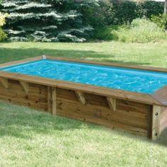 Piscine hors sol bois rectoo m2 7 60 x 3 90 m h 1 33 m for Liner piscine 3 60 x 0 90