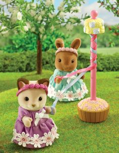 Sylvanian Families figurines. Tons of other animals and sets to choose from. So cute!