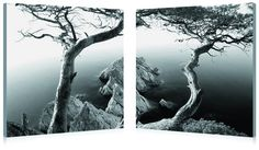Wholesale Interiors Baxton Studio Rocky Shore Mounted Photography Print Diptych