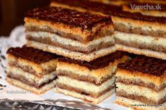 Žerbo rezy (fotorecept) - recept | Varecha.sk Easy Healthy Recipes, Easy Meals, Hungarian Desserts, Romanian Food, Food Cakes, Sweet Cakes, No Bake Desserts, Tiramisu, Banana Bread