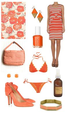 tangerine and coral