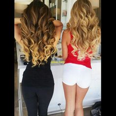 @arikasato wearing @bellamihair balayage 1C/18 and her friend wearing 8/60 hair extensions by Guy Tang