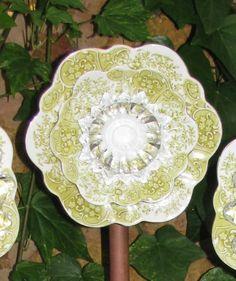 Country garden plate flower ornament by shabbygirlmosaics on Etsy, $30.00