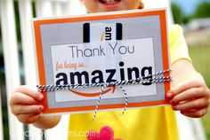 Thank You with Amazon Gift Card {free printable download}