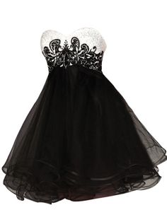 Black-and-White Baby Doll Dress