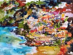 #Amalfi #Italy - Watercolor & Ink by Ginette Callaway