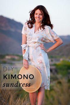 DIY kimono sun dress