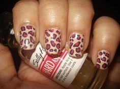 Beige and pink cheetah print.