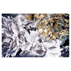 Hang this artful canvas print above your living room seating group to create a stylish conversation space, or display it in the foyer for eye-catching appeal. Crafted in the USA, this chic design showcases an oversized floral motif and metallic detail.     Product: Canvas printConstruction Material: Canvas and woodFeatures:  Hand-stretched Gallery-wrappedArrives ready to hang with all hardware included Made in the USA Includes a certificate of authenticity by the artist   Cleaning and ...