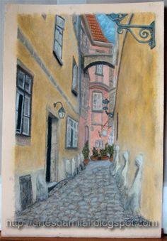 Viela Pastel, Painting, Cross Stitch, Pintura, Cake, Painting Art, Paintings, Painted Canvas, Crayon Art