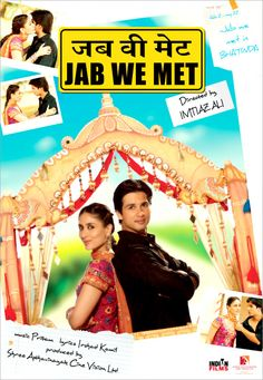 Jab We Met. My first Bollywood movie.  My relationship with learning Hindi.  Check it out here:  http://myhindiheart.com/my-relationship-with-learning-hindi/