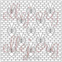 Этот узор можно взять для шали или прямоугольное полотно из угла до угла, можно из центра, чтобы бабочки разлетались в четыре стороны... Crochet by Ellej - мастер-классы по вязанию крючком.