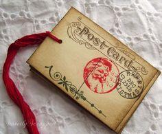 Santa Postcard Christmas Tags