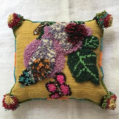 Nathalie Lete Embroidered Pillow — John Derian Company Inc Textiles, Textile Patterns, Textile Art, Crochet Patterns, Contemporary Tapestries, Pillow Inspiration, Pink Pillows, Patch Quilt, Crafty Craft