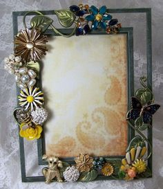 Unique Design For Victorian Picture Frames With Semi Frameless Glass Design And Using Detailed Flowers And Vines Ornate For The Decoration To This Frame