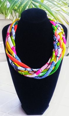 African Jewellery Ankara Necklace Ethnic by AfrogenicCollections