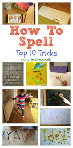Great tips for spelling - fun ideas that help children really enjoy learning how to spell. Tips and ideas for multi-sensory techniques, to suit the range of learning styles in your classroom. Share them with parents for fun at-home learning too. Spelling Activities, Activities For Kids, Vocabulary Games, Alphabet Activities, Vocabulary Strategies, Spelling Games, Listening Activities, Phonics Activities, Writing