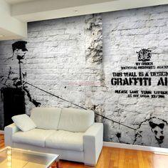 Fototapeta - Banksy - Graffiti Area