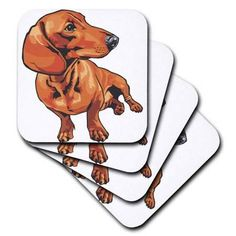 3dRose Funny Cute Two-Toned Dachshund Dog Playing Guitar Porcelain Plate 8
