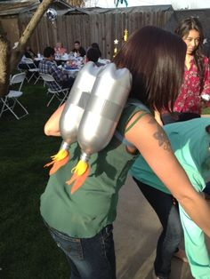 Jetpacks for an outer space and rocket ship party
