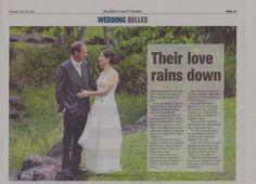 Newspaper Wedding Belles by  www.suzanneriley.com.au Suzanne Riley Marriage Celebrant