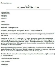 Teaching Assistant Cover Letter Example Icover Graduate Sample Livecareer