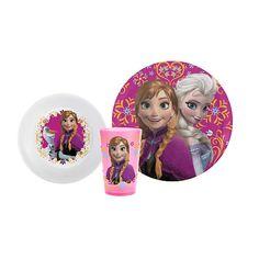 """Disney's Frozen 3 Piece Mealtime Set - Plate/Bowl/Tumbler -  Zak Designs - Toys""""R""""Us"""