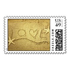 Shop Love Heart Starfish Beach Wedding Invitation Stamp created by ForBetterOrWorse. Wedding Invitation Envelopes, Beach Wedding Invitations, Save The Date Invitations, Save The Date Cards, Wedding Stationery, Wedding Programs, Invites, Wedding Postage Stamps, Wedding Stamps