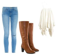 Country chic by alwaysapotter-head on Polyvore featuring Frame Denim, Jilsen Quality Boots and country