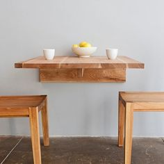 If my new place back East is super small, this breakfast nook table could  come. Wall Mounted ...