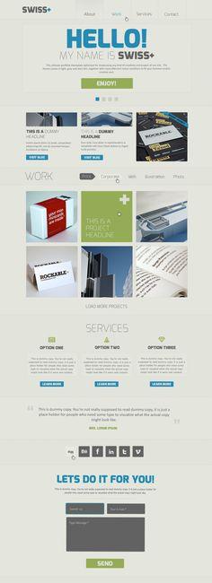 Swiss – Responsive Portfolio PSD Theme