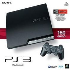 Sony Playstation 3 160 Gb/go Game Console In Black
