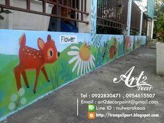 เพ้นท์ผนัง และวาดภาพตกแต่ง: เพ้นท์ผนัง @ ศูนย์พัฒนาเด็กเล็กเมืองคูคต จ. ปทุมธา...