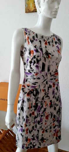 Vintage woman designer Hugo Boss dress L size