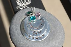 sterling silver handstamped mothers necklace by thecharmedwife, $65.00