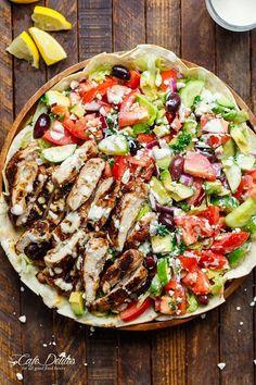 Chicken Shawarma Salad | http://cafedelites.com
