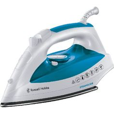 Russell Hobbs 21570 The Russell Hobbs 21570 Steam-glide Iron is styled in a fresh White colour and boasts 2400W of power. Its stainless steel soleplate will effortlessly glide over fabrics, cutting down on your iron time http://www.MightGet.com/february-2017-3/russell-hobbs-21570.asp