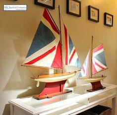 Union Jack Pond Yacht Models #coastal #nautical #decor