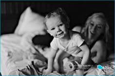 Photograph by ANGELA ANDERSON of Angela Anderson Portraits/Feather Whimsy Portraits    Sweet baby portrait lying in the bed. Natural baby photographs. Lifestyle baby photography