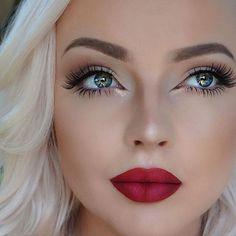 17 Ideas Wedding Makeup Burgundy Lips Lipstick Colors For 2019 17 Ideen Hochzeit Make-up Burgu Fair Skin Makeup, Lipstick For Fair Skin, Red Lip Makeup, Cat Eye Makeup, Hair Makeup, Makeup Lipstick, Bridal Makeup Red Lips, Fox Makeup, Makeup Looks