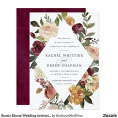 A whimsical baby shower brunch invitation featuring watercolor flowers in fall colors with polka dots pattern for the back. This invitation will be perfect for fall or autumn, spring, and boho-themed baby shower. Matching items are available. Brunch Invitations, Rehearsal Dinner Invitations, Floral Wedding Invitations, Flower Invitation, Invites, Invitation Suite, Rehearsal Dinners, Baby Shower Floral, Baby Shower Brunch