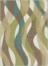 CLEARANCE Area Rug, Ivory Striped  8X10 NEW STYLE Carpet #81830