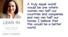 Sheryl Sandberg on women equality in leadership