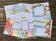 Rose Blossom Legacies: Summer Vibes Scrapbooking Workshop Scrapbooking Layouts, Scrapbook Pages, August Summer, Calendar Pages, Photo Layouts, Card Maker, Heart Art, Close To My Heart, Summer Vibes