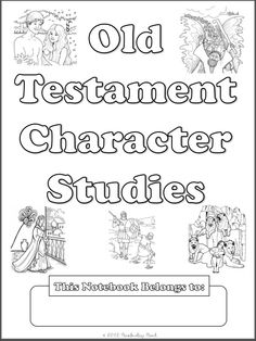 Free Old Testament Character Study Notebooking Pages