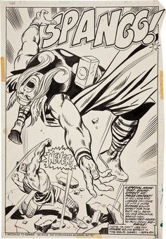 Thor #221 Splash Page 22 by John Buscema (1974)