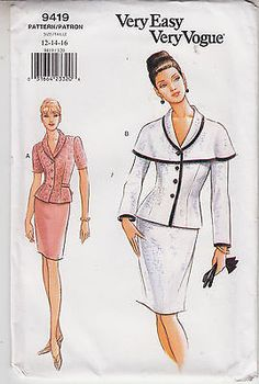 Top Skirt Capelet Variations Vogue Sewing Pattern 9936 Sz 12-16 Very Easy