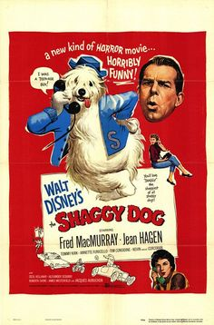 """El Perro Humano"" (""The Shaggy Dog"", 1959). Dir. Charles Barton. Stars:  Fred MacMurray, Jean Hagen, Tommy Kirk."
