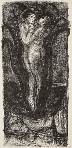 Munch, Edvard - Kjærlighetsblomsten / The Flower of Love 1896/1906